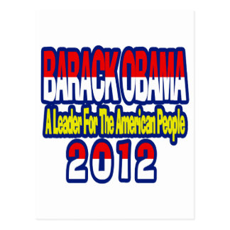 SUPPORT RE-ELECT OBAMA 2012 POSTCARD