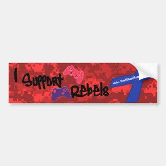 Support Rebels - Camo Bumper Sticker