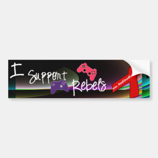 Support Rebels - Qbist Bumper Sticker