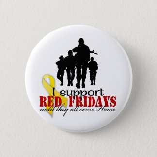 Support red Fridays Pinback Button