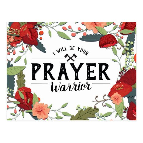 Support, Religious, I'll be your Prayer Warrior Postcard