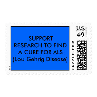 SUPPORT  RESEARCH TO FIND A CURE FOR ALS (Lou G... Postage Stamp