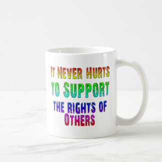 Support Rights of Others Classic White Coffee Mug