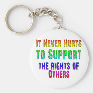 Support Rights of Others Keychain