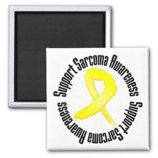 Support Sarcoma Awareness 2 Inch Square Magnet