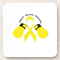 Support Sarcoma Awareness Beverage Coaster