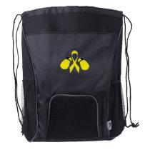 Support Sarcoma Awareness Drawstring Backpack