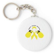 Support Sarcoma Awareness Keychain