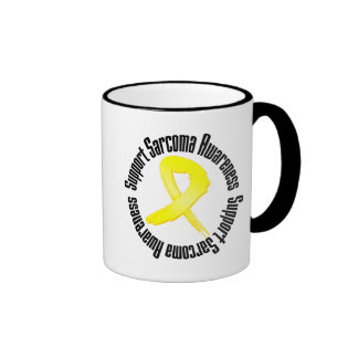Support Sarcoma Awareness Ringer Coffee Mug