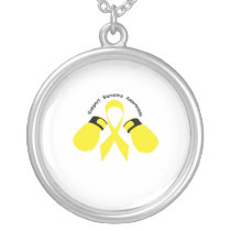 Support Sarcoma Awareness Silver Plated Necklace