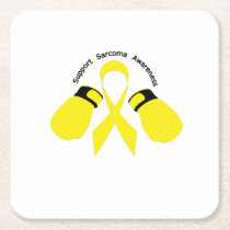 Support Sarcoma Awareness Square Paper Coaster
