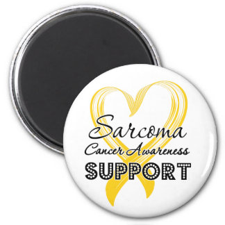 Support Sarcoma Cancer Awareness 2 Inch Round Magnet
