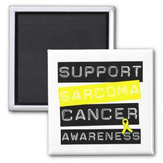 Support Sarcoma Cancer Awareness 2 Inch Square Magnet