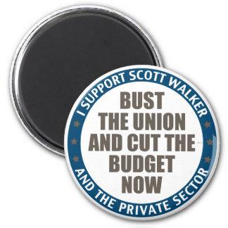 Support Scott Walker 2 Inch Round Magnet