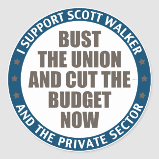 Support Scott Walker Classic Round Sticker