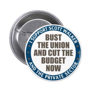 Support Scott Walker Pinback Button