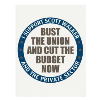 Support Scott Walker Postcard