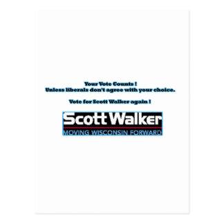Support Scott Walker- Vote Again ! Postcard