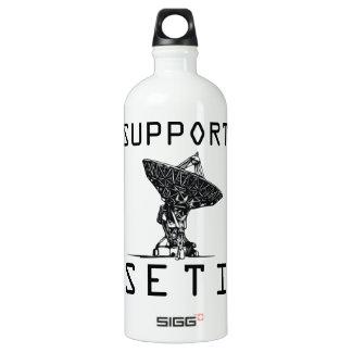 Support SETI Aluminum Water Bottle