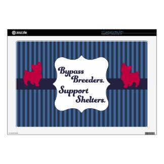 Support Shelter Dogs Laptop Skin