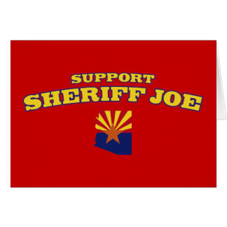 Support Sheriff Joe Card
