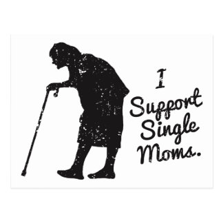 Support Single Moms Postcard
