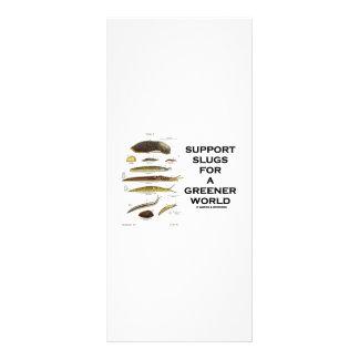 Support Slugs For A Greener World Rack Card Design