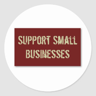 Support Small Business Classic Round Sticker