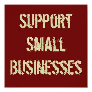Support Small Businesses Invitation