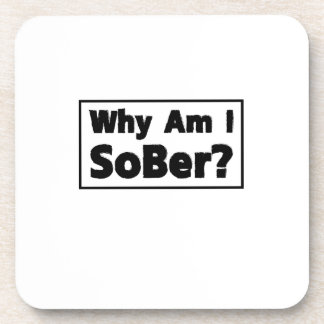Support Sobriety Cause Gif Am I Sober Drink Coaster