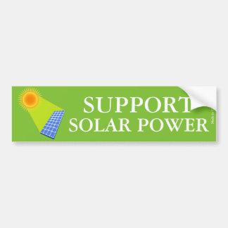 Support Solar Power Bumper Sticker