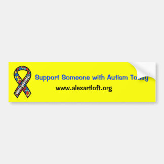 Support Someone with Autism Bumper Sticker