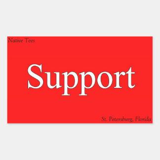 Support St. Pete Native Tee Stickers! Rectangular Sticker