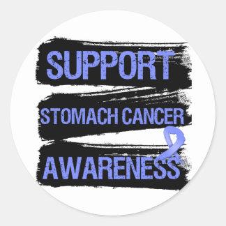Support Stomach Cancer Awareness Grunge Classic Round Sticker