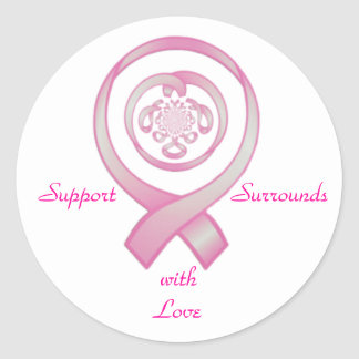 Support Surrounds with Love Classic Round Sticker