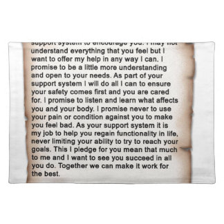 Support System Pledge 1b.jpg Cloth Placemat