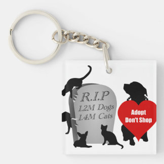 Support the Adopt Don't Shop Movement Key Fob