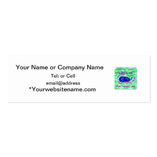 support the arts fish wale business card templates