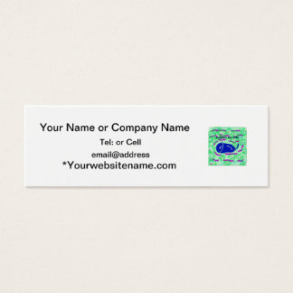 support the arts fish wale mini business card
