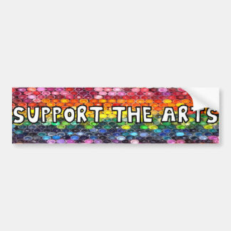 Support the Arts Rainbow Bumper Sticker