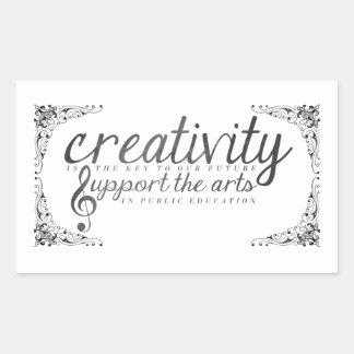 Support the Arts! Rectangular Sticker