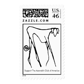 Support The Azawakh Club of America Postage Stamp