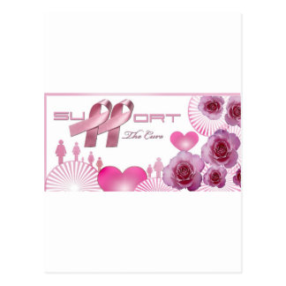 Support The cure, Breast Cancer Awareness Postcard