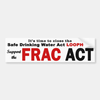 Support the FRAC Act - Bumper Sticker