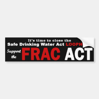 Support the FRAC Act - Bumper Sticker, black