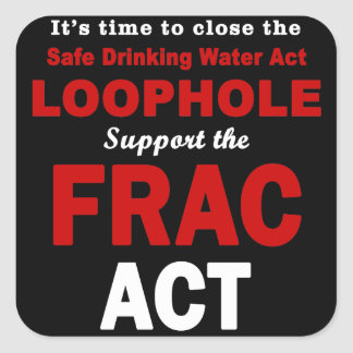 Support the FRAC Act - Square Stickers