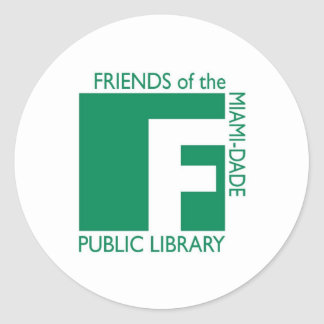 Support The Friends of the Miami-Dade Library Classic Round Sticker