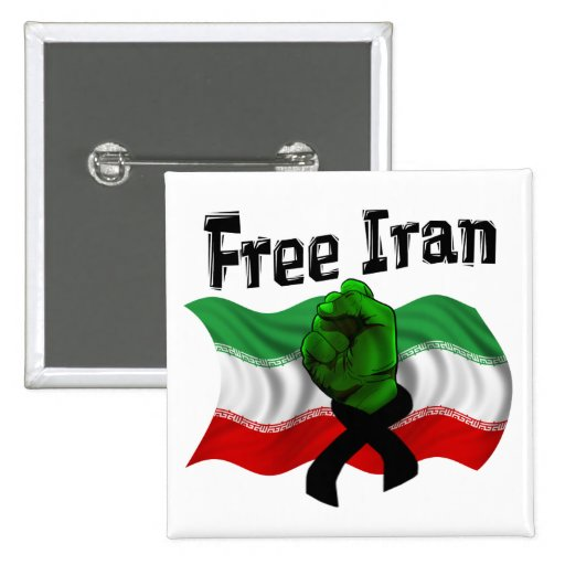 Support The Green Wave, Free Iran Pin