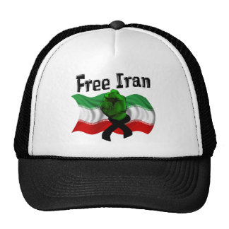 Support The Green Wave, Free Iran Trucker Hat