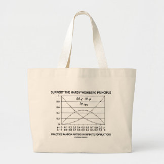 Support The Hardy-Weinberg Principle Practice Large Tote Bag